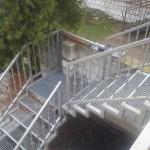 Metalowe schody zewnętrzne