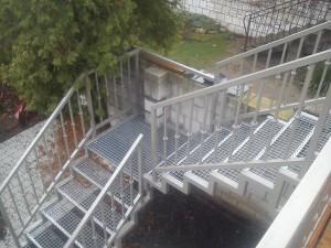 Nasze schody metalowe widok z góry