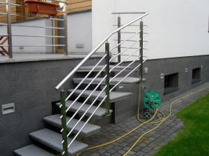 Balustrada do schodów zewnętrznych