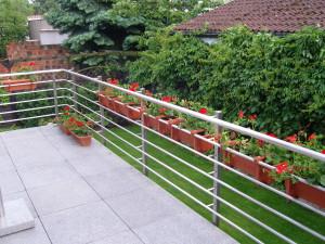 Balkon z naszą balustradą