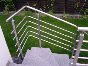 Realizacja obejmująca schody i balustradę