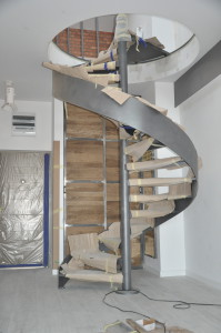 Realizacja wewnętrznych schodów kręconych dla naszego klienta